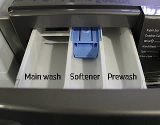 washing machine where to put powder