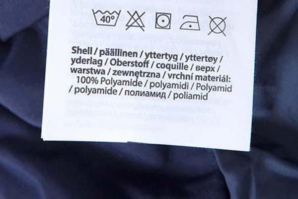 polyamide garments can be machine washed
