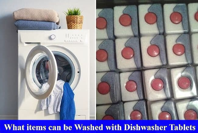 What items can be Washed with Dishwasher Tablets