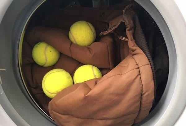 tennis ball in washing machine